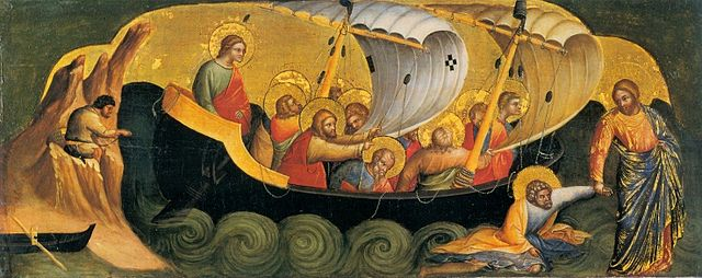 Lorenzo Veneziano, Christ Rescuing Peter from Drowning.1370, Staatliche Museen, Berlin.