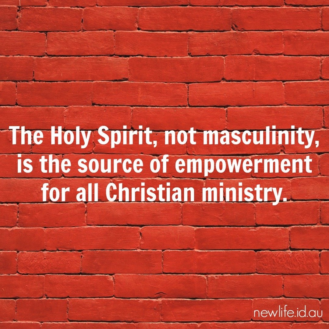 New Life quotations to share: Holy Spirit, not masculinity