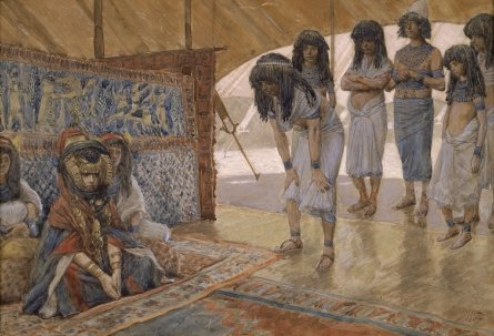 'Sarai is taken to Pharaoh's Palace' by James Tissot